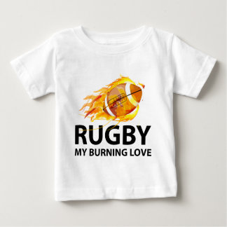 Rugby My Burning Love Baby T-Shirt
