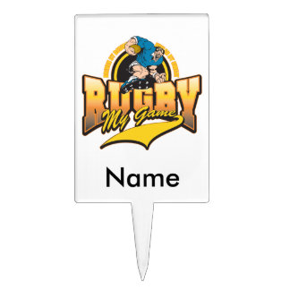 Rugby My Game Cake Topper