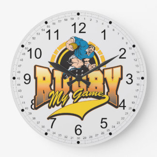 Rugby My Game Large Clock