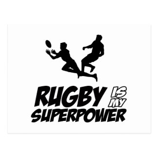 Rugby my super power postcard