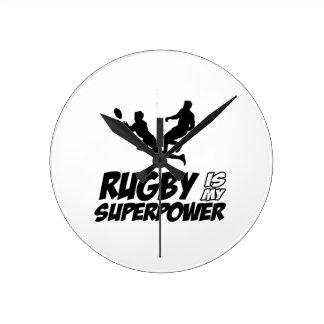 Rugby my super power round clock