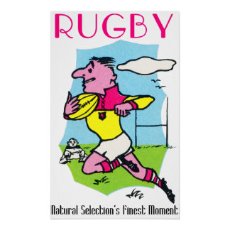 Rugby - Natural Selection's Finest Moment - Poster