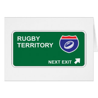 Rugby Next Exit Greeting Cards