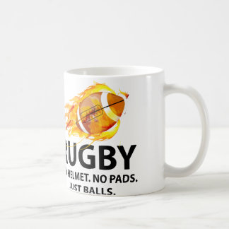 Rugby. No Helmet. No Pads. Just Balls. Coffee Mug