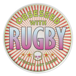 Rugby Obsessed R Dinner Plates