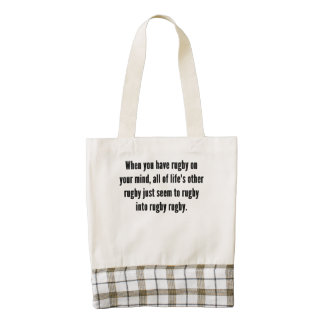 Rugby On Your Mind Zazzle HEART Tote Bag