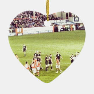 Rugby Ceramic Heart Decoration