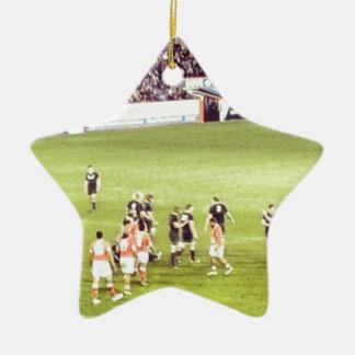 Rugby Ceramic Star Decoration