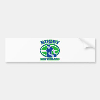 rugby passing front view ball new zealand bumper stickers