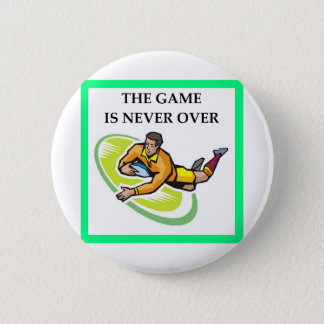 RUGBY PINBACK BUTTON