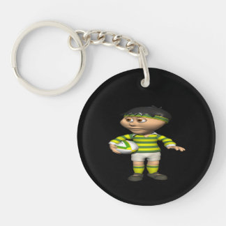 Rugby Player 2 Keychain
