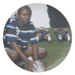 Rugby player 2 plate