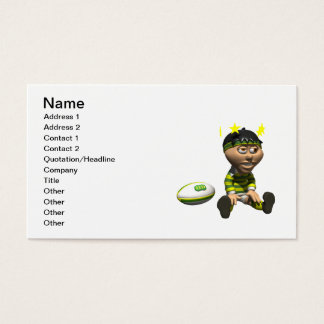 Rugby Player 3 Business Card