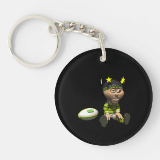 Rugby Player 3 Keychain