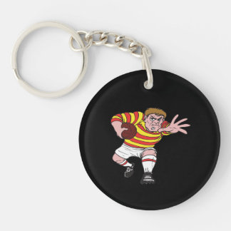 Rugby Player 4 Keychain