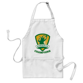 Rugby player Australia Champions shield Apron