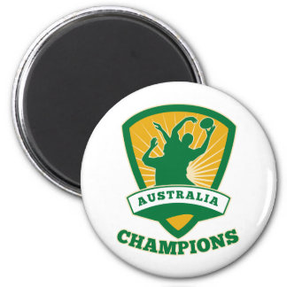Rugby player Australia Champions shield 2 Inch Round Magnet