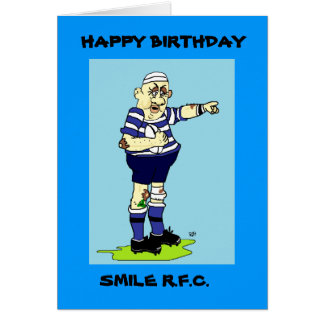 RUGBY PLAYER BIRTHDAY CARD