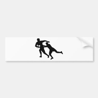 Rugby player bumper sticker