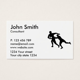 Rugby player business card