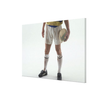 Rugby player canvas print