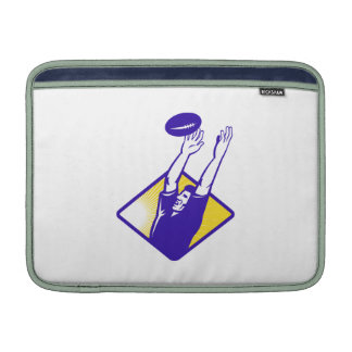 Rugby Player Catching Lineout Ball Sleeves For MacBook Air