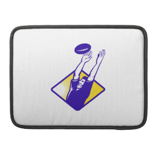 Rugby Player Catching Lineout Ball MacBook Pro Sleeve