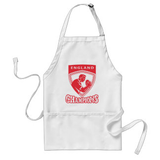 Rugby player England Champions shield Aprons