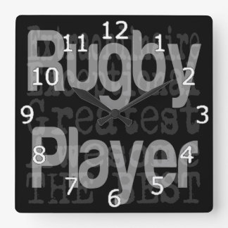 Rugby Player Extraordinaire Square Wall Clock