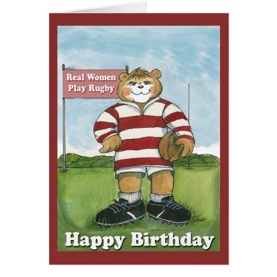 Rugby Player Female Birthday Card – Rugby Birthday Cards