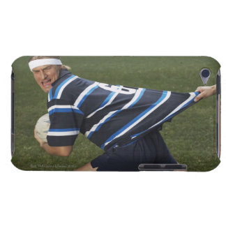 Rugby player getting shirt pulled iPod touch case