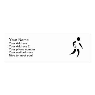 Rugby player icon Double-Sided mini business cards (Pack of 20)