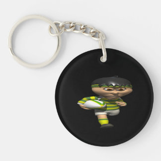 Rugby Player Keychain