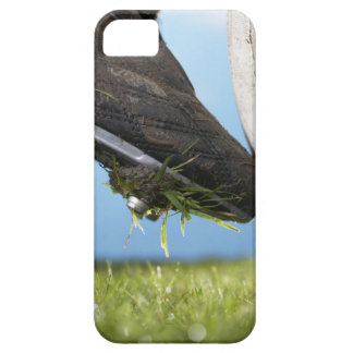 Rugby player kicking ball off tee, close up of iPhone SE/5/5s case