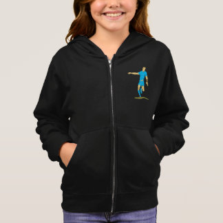 Rugby Player Kicking Girls Hoodie