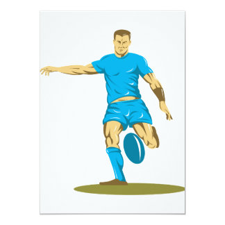 Rugby Player Kicking Invitations