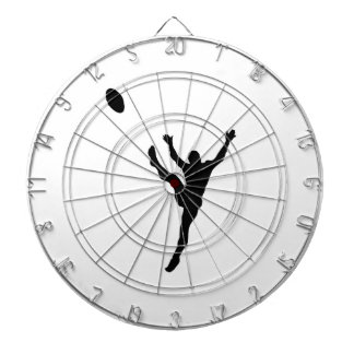 Rugby Player Kicking Silhouette Dart Boards
