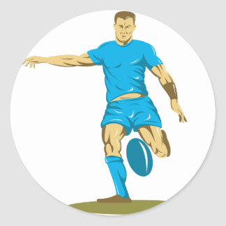 Rugby Player Kicking Stickers