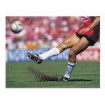 Rugby Player Kicking the Ball Postcard