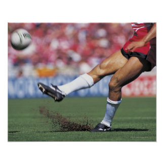 Rugby Player Kicking the Ball Poster