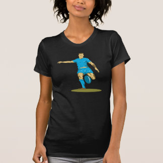 Rugby Player Kicking Womens T-Shirt