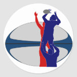 Rugby player lineout throw ball france sticker