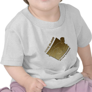 rugby player metallic gold give blood, play rugby t-shirts