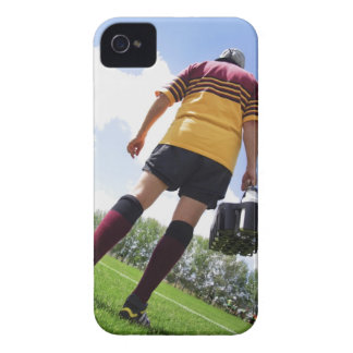 Rugby player on the sideline with refreshments iPhone 4 case