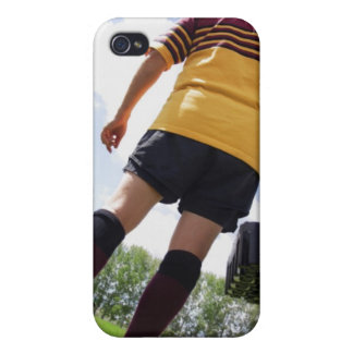 Rugby player on the sideline with refreshments iPhone 4 cases