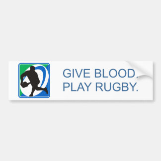 Rugby player passing ball front bumper stickers