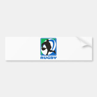 Rugby player passing ball front bumper sticker
