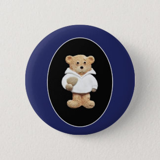 Rugby Player Pinback Button