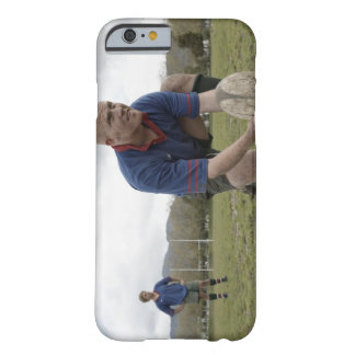 Rugby player positioning ball on rugby pitch barely there iPhone 6 case
