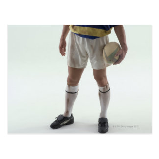 Rugby player postcards